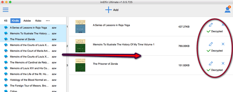 add books to remove drm on mac